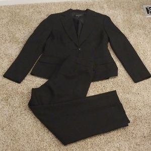 Kasper suit with pinstripes